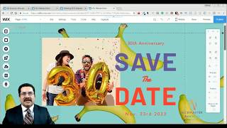 """Save The Date"" Wedding Template from Wix - Web Design - Tutorial"