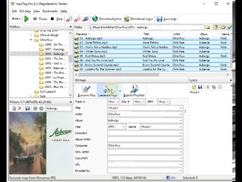 GENERATE TRACK NUMBERS FOR MP3 FILES. mp3Tag Pro by ManiacTools