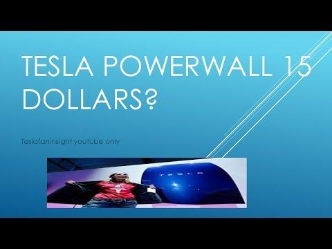 Tesla powerwall (stock 3000) 15 dollars a month. green mountain energy partners good deal