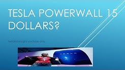 Tesla powerwall (stock 3000) 15 dollars a month. green mountain energy partners good deal
