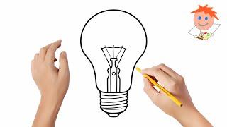 drawing easy bulb draw step