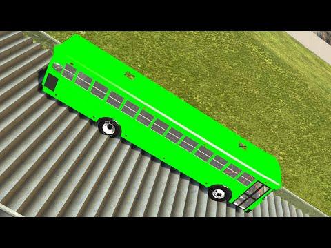 Download Stairs Jumps Down #1! BeamNG drive Compilation! Beam NG Car Crashes! BNG Mods!