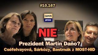 Cséfelvayová, Sárközy, Bastrnák z MOST-HID: Martin Daňo prezident? NIE! #10.167