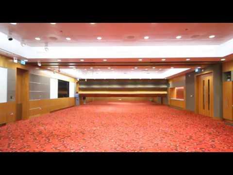 Skyfold qatar convention center in motion