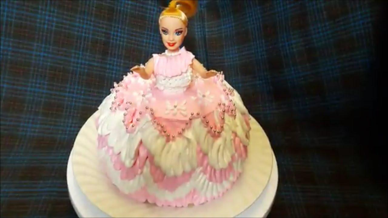 Как сделать торт куклу  видео 186