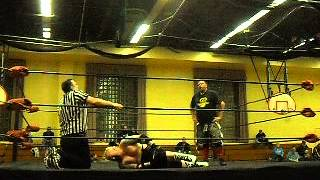 DCW Wrestling 1/11/14  Hastings PA  Diamond Troy Justice VS  Pig Vomit