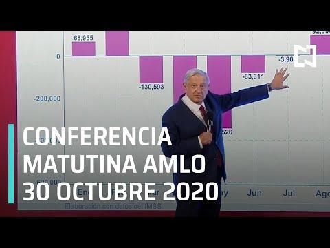 Conferencia matutina AMLO / 30 de octubre 2020