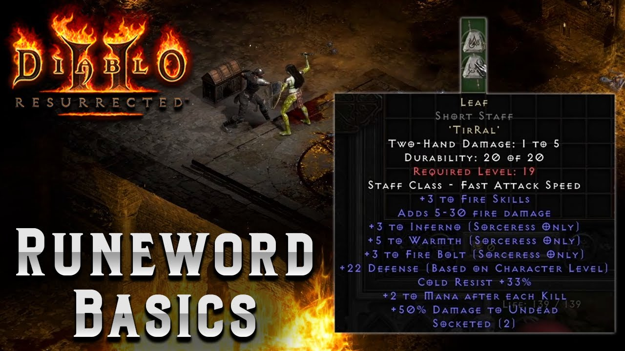 Diablo 2 Resurrected - Beginner Rune Word Guide - Normal difficulty