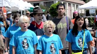 """One Day More"" Flash Mob - Kids Singing Les Miserables - La Canada, California"