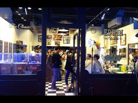 Edwin Watch x Crows Nest Barber shop Hong Kong