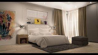 Idei frumoase cu amenajari interioare cu gri in dormitor