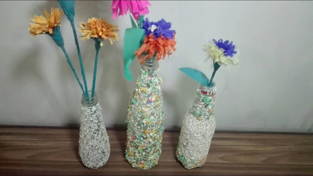 Recycled Diy Mosaic Vase From Egg Shells Youtube