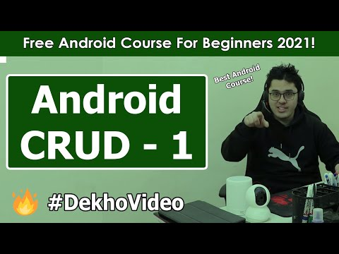 SQLite Android CRUD: Implementing Database class | Android Tutorials in Hindi #25 thumbnail