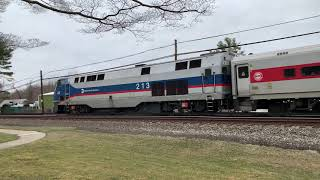 Metro-North Railroad 4k60fps Test Video #1 (GE P32AC-DM @ Kensico Cemetery) 4/2/19