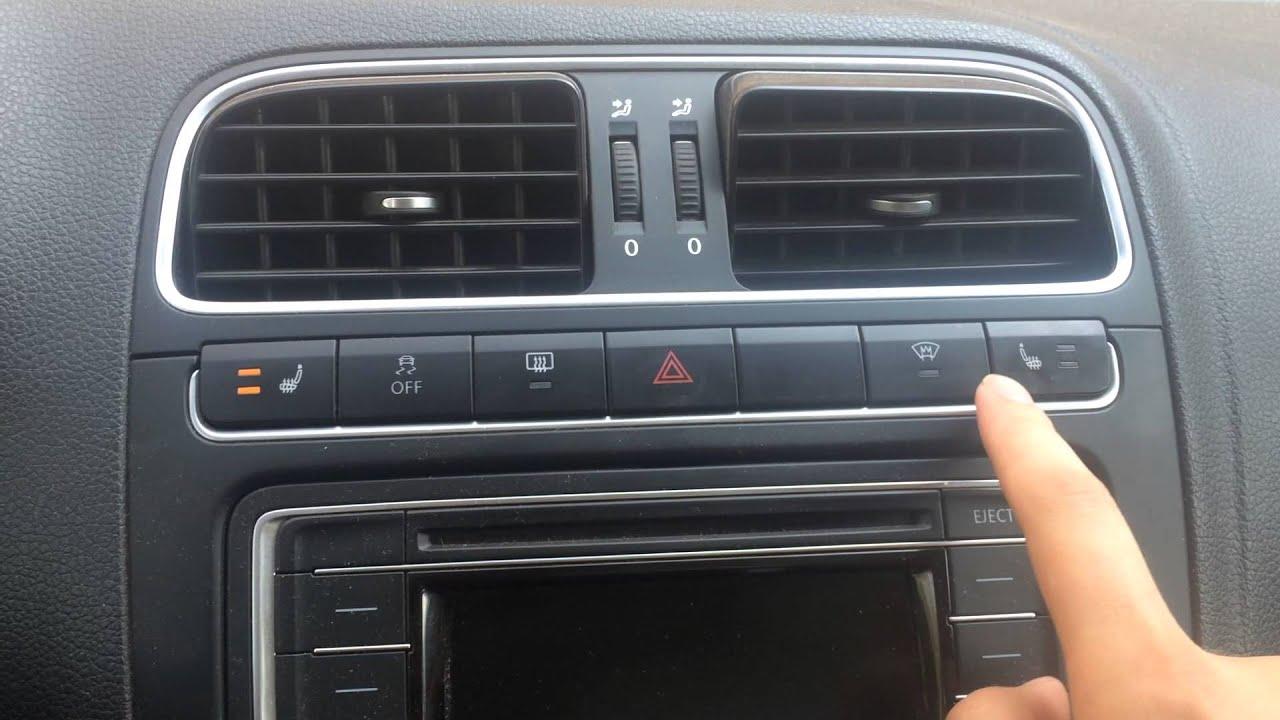 кнопка включения обогрева зеркал на фольксваген поло