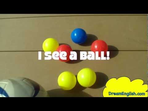 Thumbnail: I See a Ball Children's Song | Learn Colors | Babies, Toddlers, Kindergarten