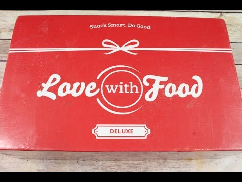 Love with Food March 2017 Deluxe Box Unboxing + Coupons  #lovewithfood