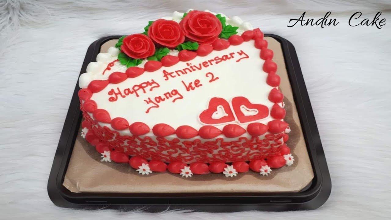 Cara Membuat Kue Ulang Tahun Motif Bunga Bentuk Love Youtube