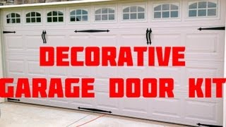 Easy Install Home Curb Appeal Carriage Garage Door