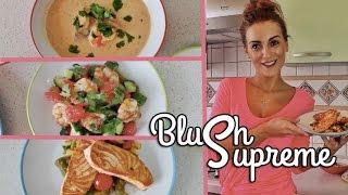VLOG | рецепты Том Ям, Семга и Салат с креветками | BlushSupreme | эксперимент