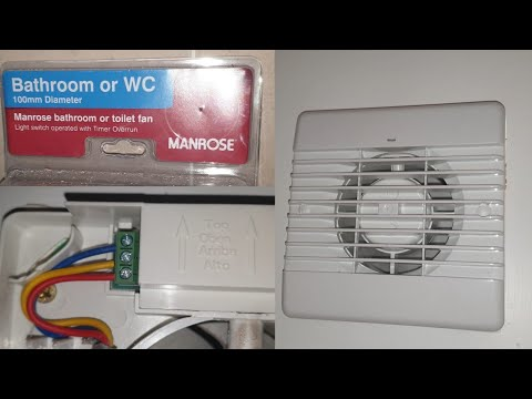 How To Install A Manrose Extractor Fan Youtube