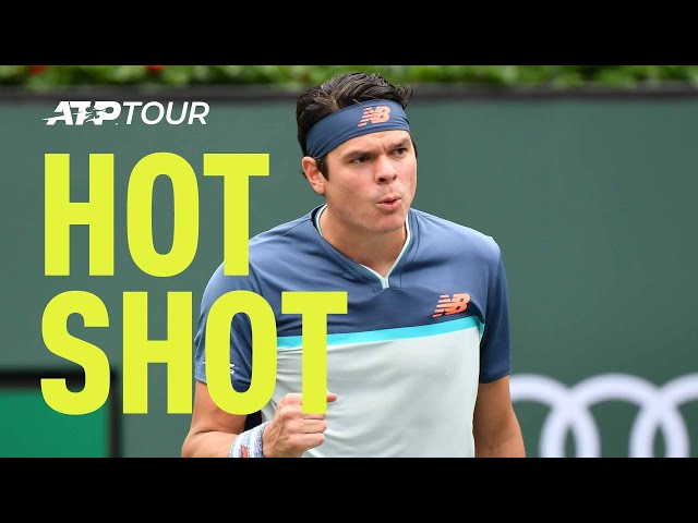 Hot Shot: Raonic Serves As A Brick Wall At Net In Indian Wells 2019