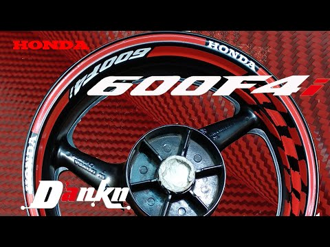 Наклейки на диски мотоцикла | Stickers On The Wheels Motorcycle's | Installing Kit Decals
