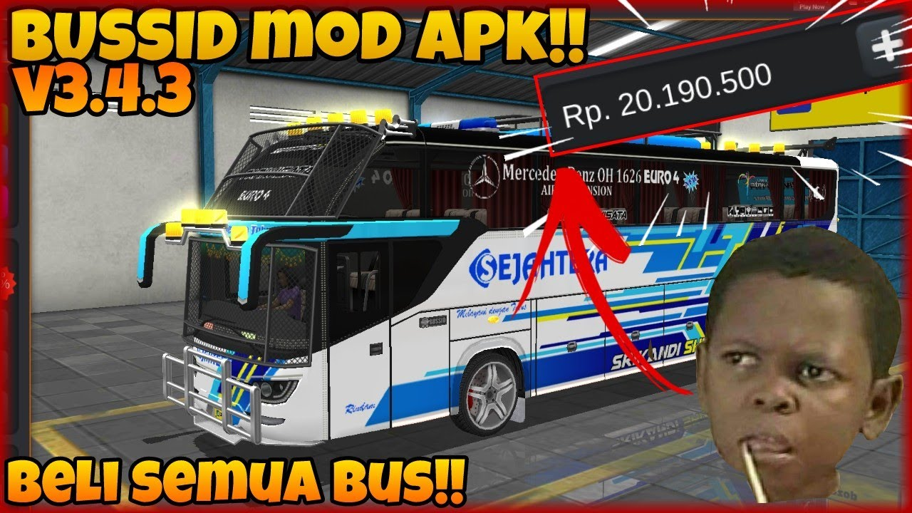 Cheat Bussid V3 4 3 Mod Apk Bus Simulator Indonesia Mod Apk Android Versi Terbaru 3 4 3 Youtube