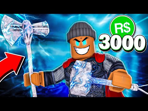 """I spent 3,000R$ & bought the """"STORMBREAKER"""" PAPER BALL!! (Roblox) 