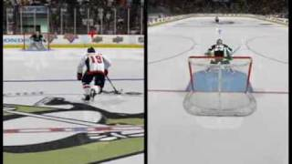 NHL 10 shootout mode with 2-players for XBOX 360