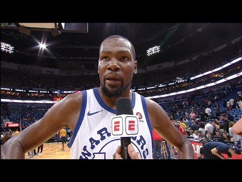 Kevin Durant Postgame Interview / GSW vs Pelicans / Oct 20