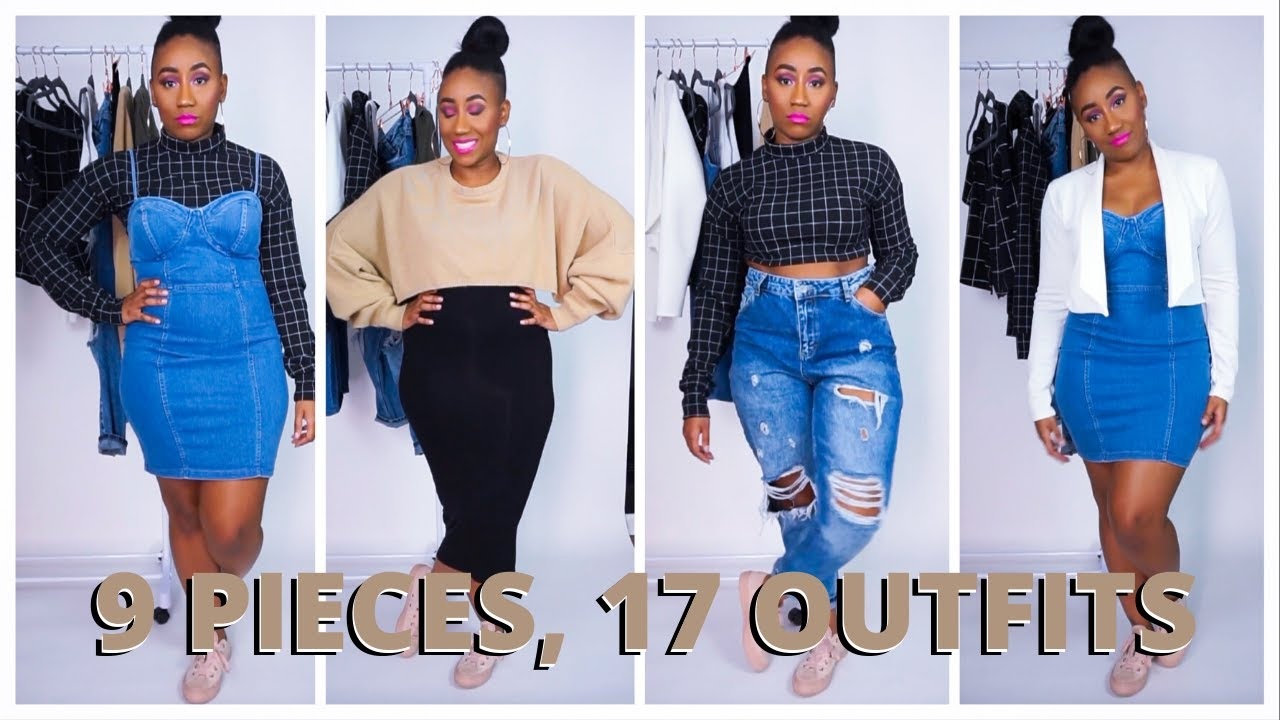 [VIDEO] - 17 OUTFITS FROM 9 PIECES | FALL CAPSULE WARDROBE LOOKBOOK 2019 | CRUVY GIRL FRIENDLY | SLIM THICC 5