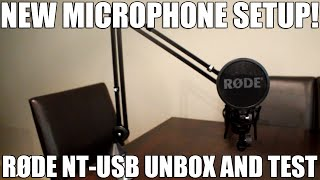 Video New Microphone Setup! | RØDE NT-USB Unbox And Test download MP3, 3GP, MP4, WEBM, AVI, FLV September 2018