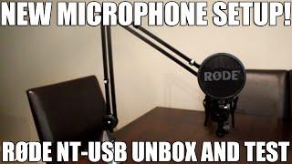 Video New Microphone Setup! | RØDE NT-USB Unbox And Test download MP3, 3GP, MP4, WEBM, AVI, FLV Juli 2018
