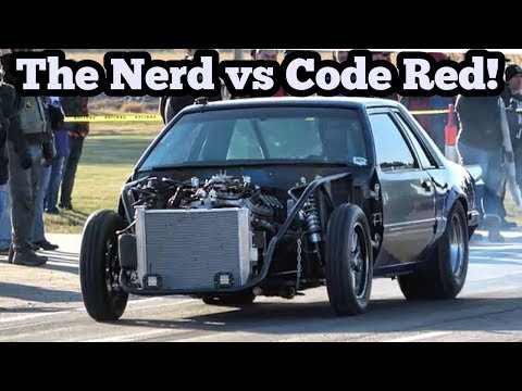 The Nerd vs Code Red at Wagoner Oklahoma Bulldog Bite Street Drags