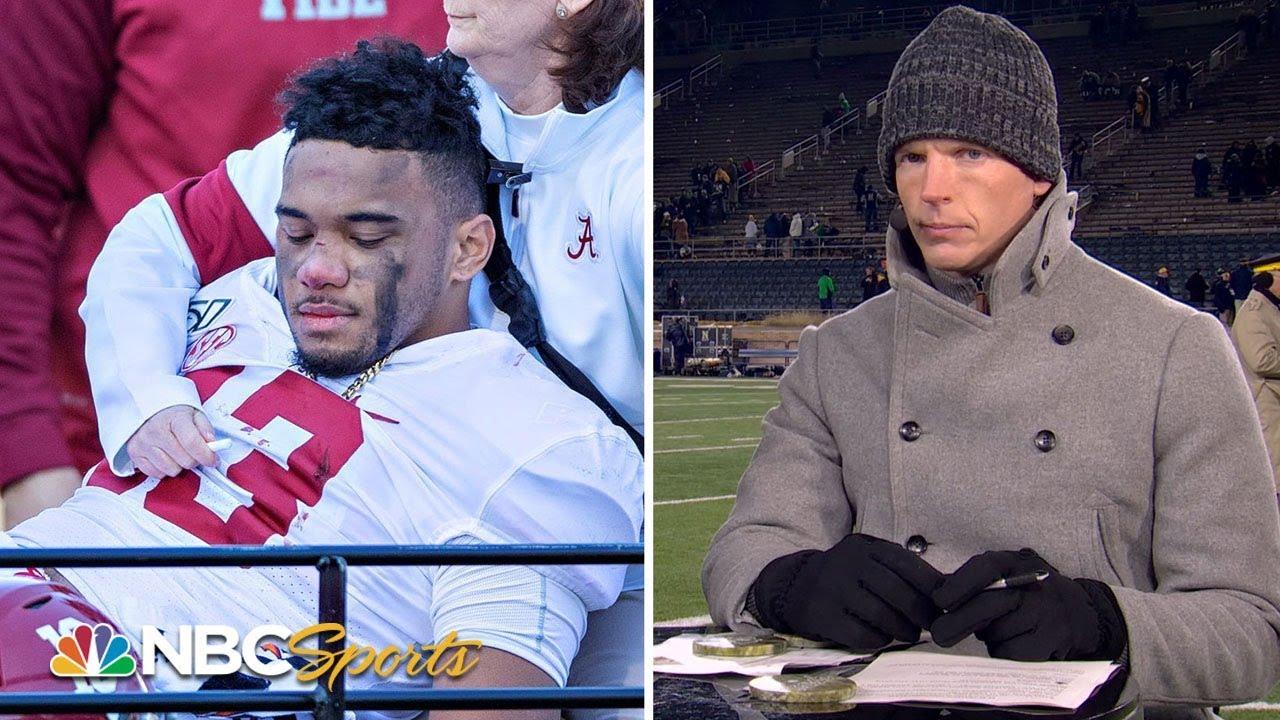 Alabama's Tua Tagovailoa injures hip, out for rest of season