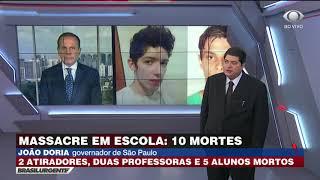 Doria fala com Datena sobre ataque em escola de Suzano