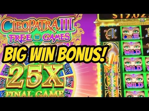 BIG WIN BONUS-CLEOPATRA III SLOT MACHINE