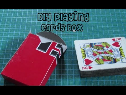 How To Make A Diy Cards Box Card Holder Card Case For Playing Cards