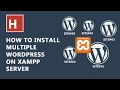 how to install multiple WordPress website in xampp sever