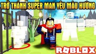 ROBLOX | Vamy Trở Thành Super Man Yêu Màu Hường Ghét Giả Dối | Superhero Simulator | Vamy Trần