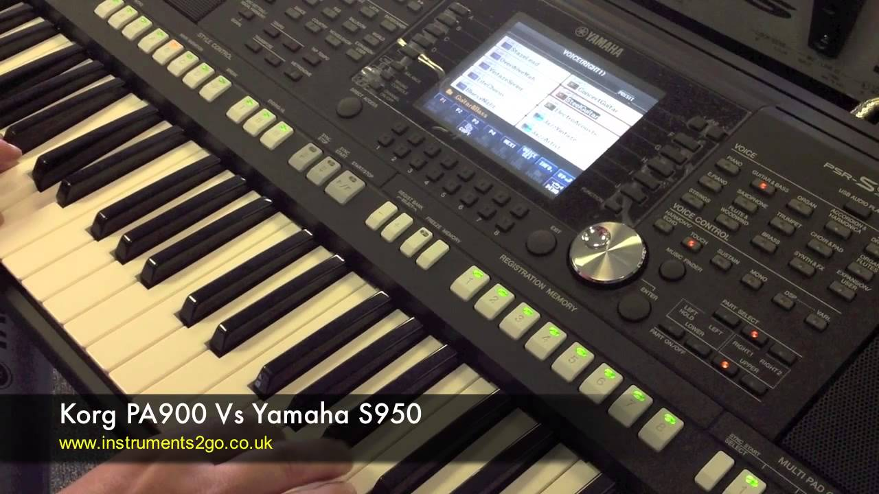 Korg pa900 vs yamaha s950 keyboard demo funnydog tv for Korg or yamaha digital piano