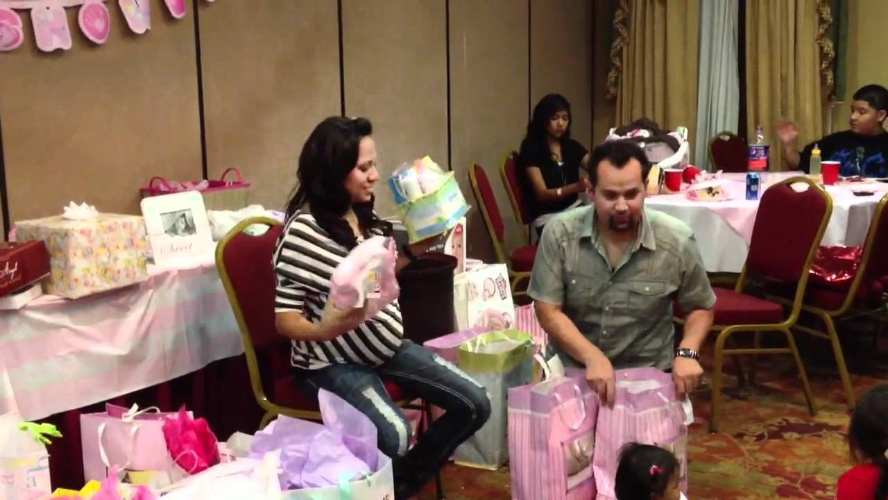 Zoeys baby shower gifts opening youtube negle Images