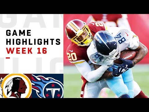 Redskins vs. Titans Week 16 Highlights | NFL 2018