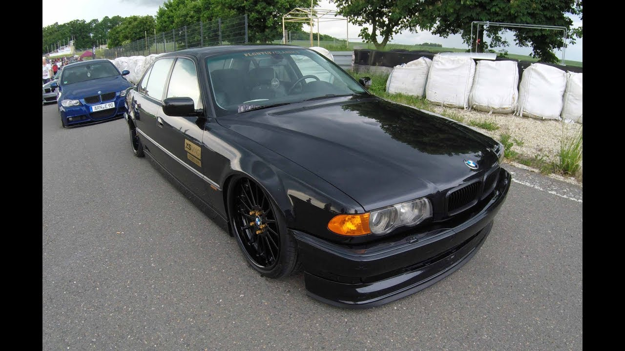 BMW 7 SERIES E38 FACELIFT ! EXTREM LOWERED SHOW CAR ! BLACK COLOUR !  WALKAROUND !