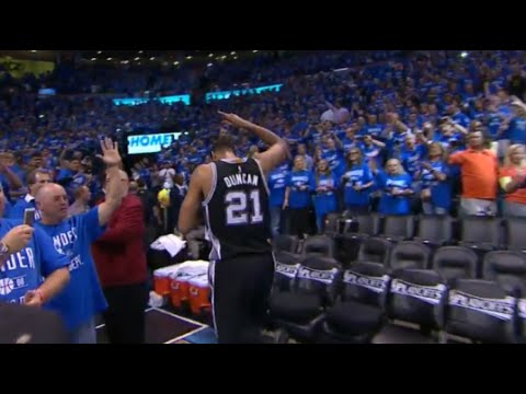 Tim Duncan's final seconds in the NBA? - Spurs vs OKC, Game 6, NBA Playoffs 2016