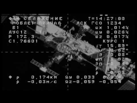 Russian Progress Spacecraft Docks with Space Station