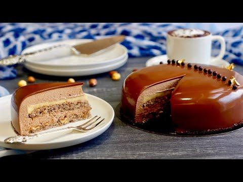 🌰entremets-au-chocolat-et-noisettes-,un-délicieux-gâteau-pour-paques/-easter-chocolate-mousse-cake-🍫