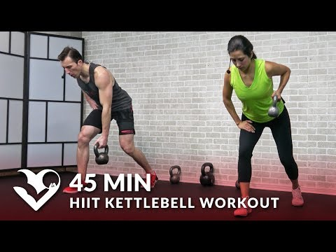45 Min HIIT Kettlebell Workouts for Fat Loss & Strength - Kettlebell Workout Training Exercises
