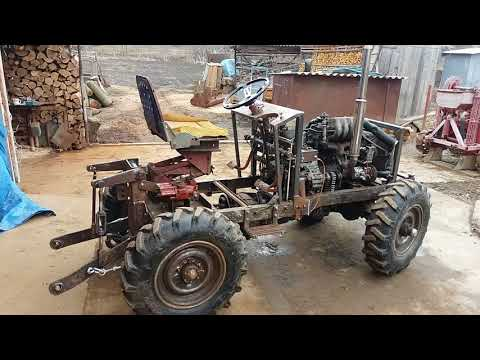 видео: Самодельный трактор 4х4. Навеска